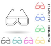 3d glasses multi color style...