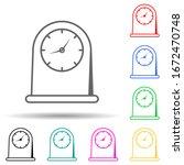 kitchen clock multi color style ...
