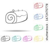 roll multi color style icon....