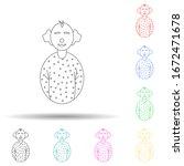 avatar clown multi color style...
