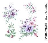 floral arrangements in pink and ... | Shutterstock .eps vector #1672478302