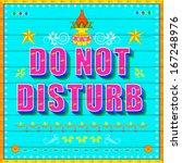 Illustration Of Do No Disturb...