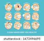 medical instructions how to... | Shutterstock .eps vector #1672496695