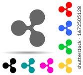 ripple multi color style icon....