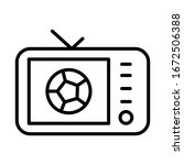 tv show  football icon. simple...