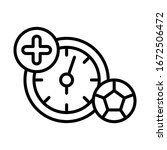 time  football icon. simple...