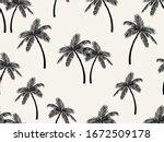 vector seamless tropical... | Shutterstock .eps vector #1672509178