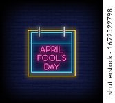 April Fool's Day Neon Signs...