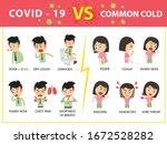 compare covid 19 and common... | Shutterstock .eps vector #1672528282
