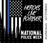 national police week.... | Shutterstock .eps vector #1672538602