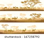 horizontal abstract banners of...   Shutterstock .eps vector #167258792