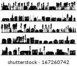 horizontal silhouettes of... | Shutterstock .eps vector #167260742