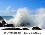 Sea Waves Are Bouncing Hard...