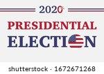 vector of 2020 usa of... | Shutterstock .eps vector #1672671268