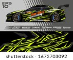 car wrap graphic livery design...   Shutterstock .eps vector #1672703092