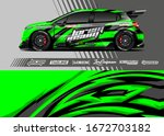 car wrap graphic livery design... | Shutterstock .eps vector #1672703182