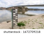 Water Level Meter Near Danube...