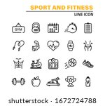 set of thin line icons fitness... | Shutterstock .eps vector #1672724788