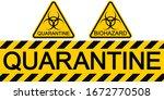 sign symbol quarantine zone... | Shutterstock .eps vector #1672770508