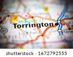 Torrington. Connecticut. USA on a geography map
