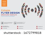 poster and flyer design with... | Shutterstock .eps vector #1672799818