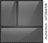 glass plate on transparent...   Shutterstock .eps vector #1672806508