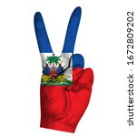 victory finger gesture with...   Shutterstock .eps vector #1672809202