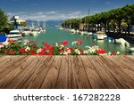 peschiera on garda lake in... | Shutterstock . vector #167282228
