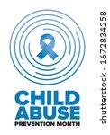 child abuse prevention month.... | Shutterstock .eps vector #1672834258
