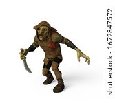 The Bad Goblin 3D Illustration