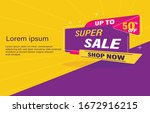 sale banner for promotional... | Shutterstock .eps vector #1672916215