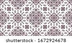 seamless pattern based on... | Shutterstock .eps vector #1672924678