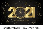 2021. happy new years. with... | Shutterstock .eps vector #1672924738