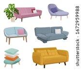 vector illustration set sofas...   Shutterstock .eps vector #1672959988