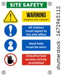 construction site safety sign....   Shutterstock .eps vector #1672965112