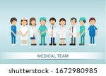 set of medical staff characters ... | Shutterstock .eps vector #1672980985