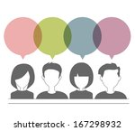 people icons with dialog speech ... | Shutterstock .eps vector #167298932