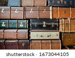 Photo Of Old Suitcases Of The...