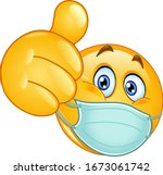 emoji emoticon with medical... | Shutterstock .eps vector #1673061742