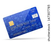 social media on credit card | Shutterstock . vector #167307785