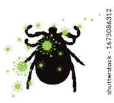 vector silhouette of tick...   Shutterstock .eps vector #1673086312