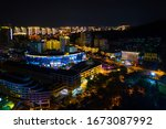 night city aerial view of sanya ... | Shutterstock . vector #1673087992