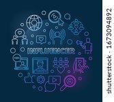 influencer vector round concept ... | Shutterstock .eps vector #1673094892