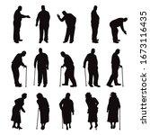 set of vector silhouette of...   Shutterstock .eps vector #1673116435