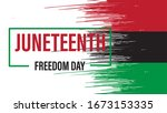 juneteenth freedom day. african ... | Shutterstock .eps vector #1673153335