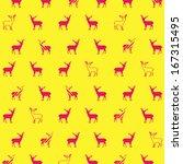 vector hipster deer pattern...   Shutterstock .eps vector #167315495