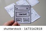 website design wireframe...