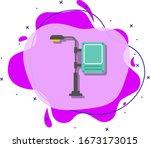 digital billboard colored icon. ...