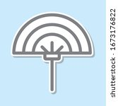 fan sticker icon. simple thin...