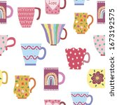 vector seamless pattern of...   Shutterstock .eps vector #1673192575